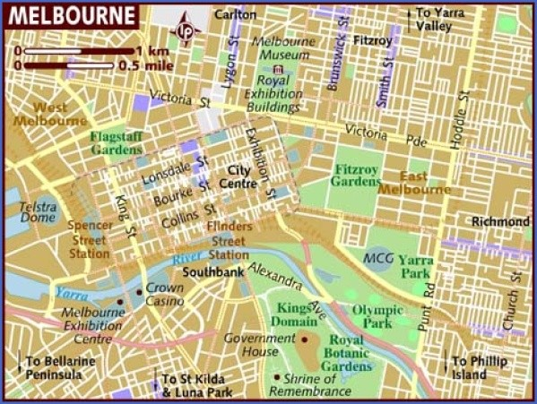 map of melbourne Map of Melbourne