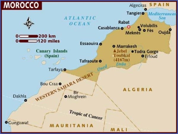 map of morocco Map of Morocco