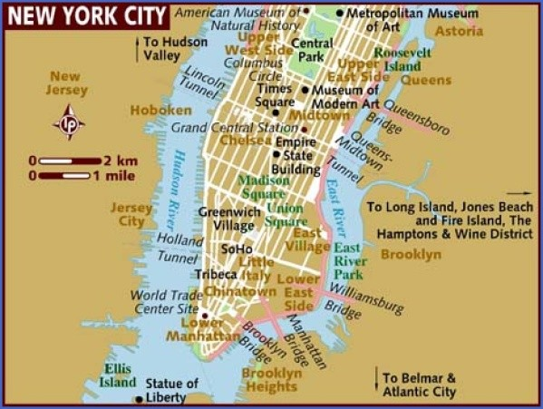 map of new york city Map of New York