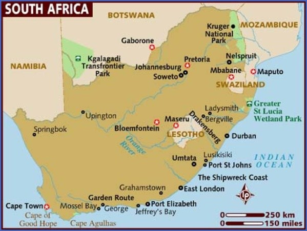 map of south africa Map of South Africa