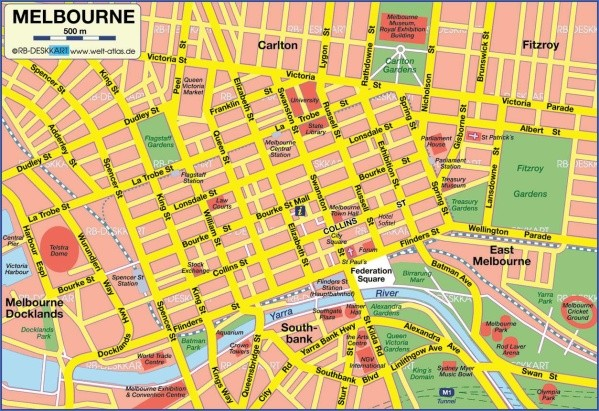 melbourne map 0 Map of Melbourne