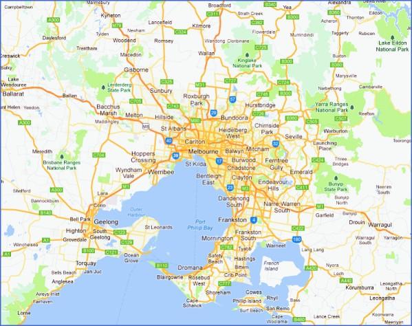 melbourne map 020 alegoo com Map of Melbourne