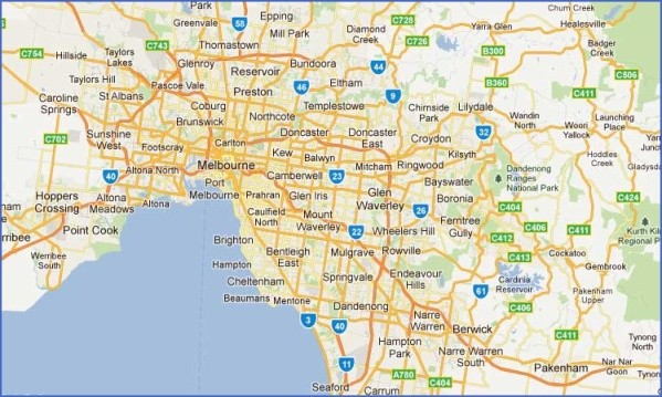 melbourne suburbs map x94564 Map of Melbourne