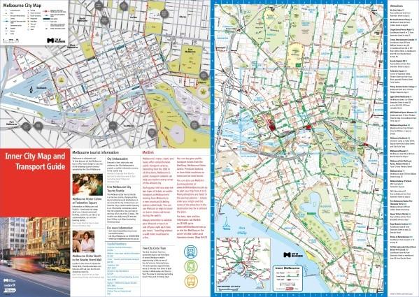 melbourne tourist map Map of Melbourne