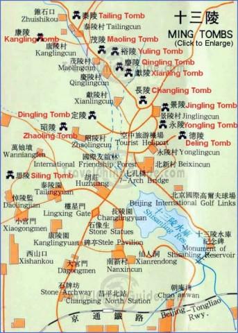 ming tombs Beijing Map