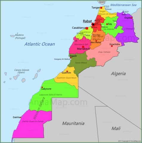 morocco map Map of Morocco