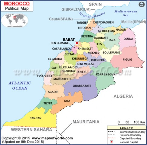 morocco political map 1 Map of Morocco