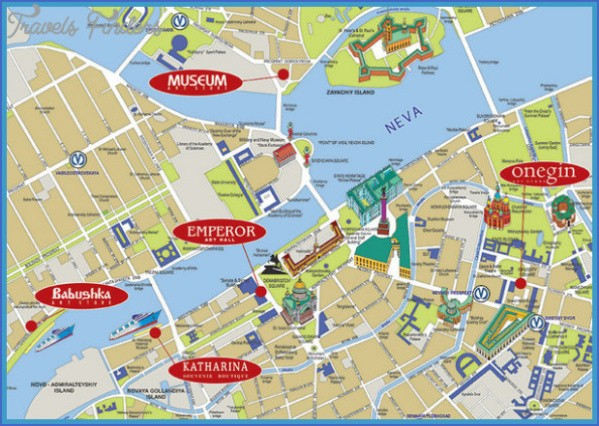 moscow map tourist attractions  3 Map of Moscow