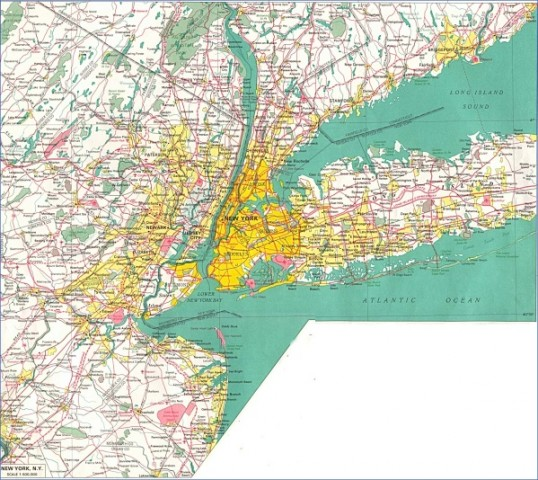 new york map big Map of New York