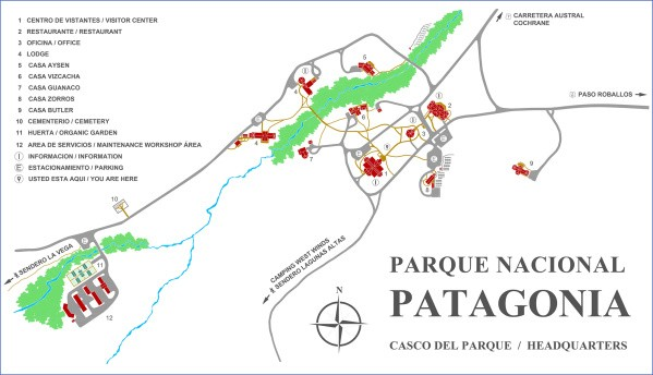 pnp headquarters Map of Patagonia