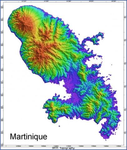 radar martinique Map of MARTINIQUE