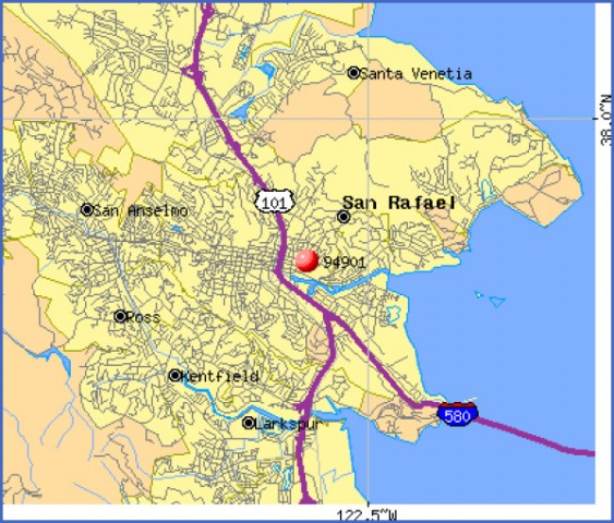 san rafael california map Map of San Rafael