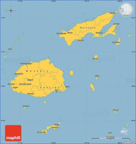 savanna style simple map of fiji Fiji Map