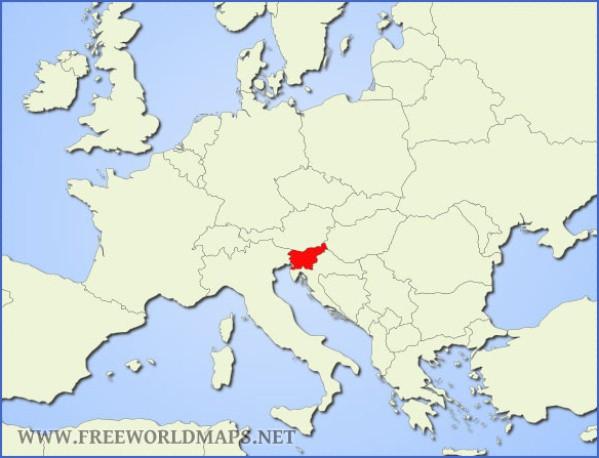 slovenia location Map of Slovenia