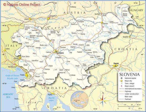 slovenia map Map of Slovenia