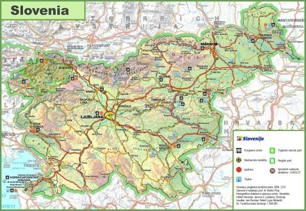 slovenia road map Map of Slovenia