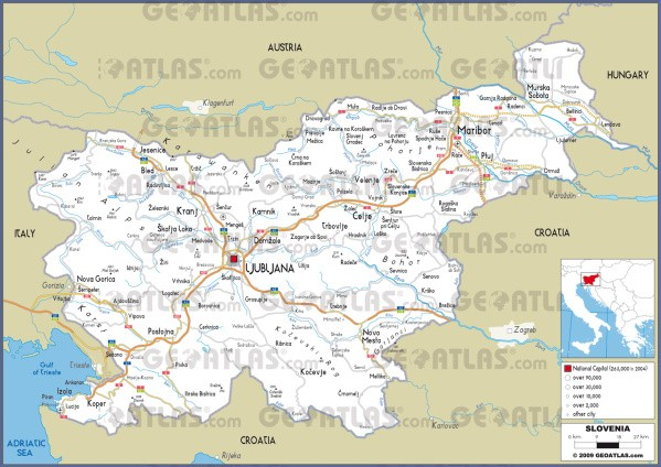 slovenia road Map of Slovenia