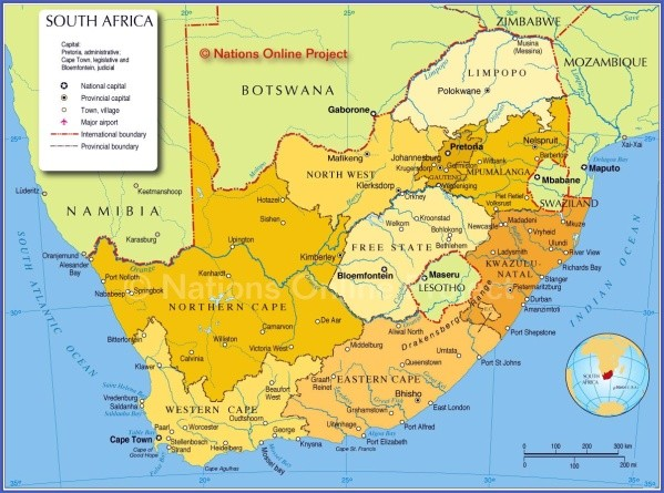 south africa map 1 Map of South Africa