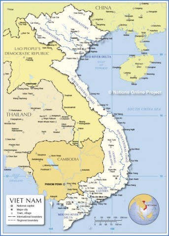 vietnam administrative map Map of Vietnam