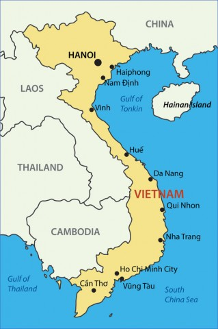 vietnam map Map of Vietnam