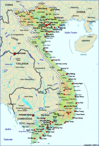 vietnam Map of Vietnam