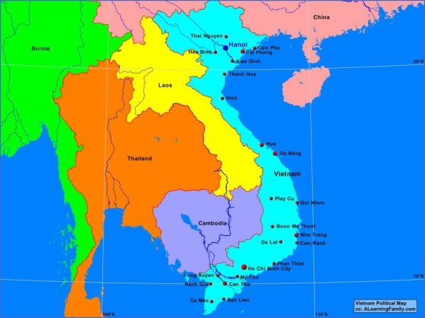 vietnampolitical 1 Map of Vietnam
