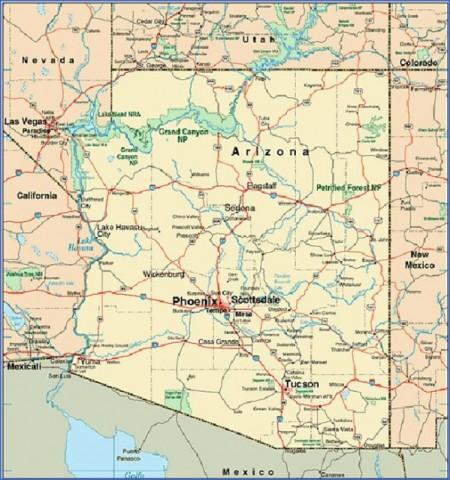 arizona map 4 Arizona Map