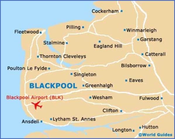 blackpool map 12 Blackpool Map