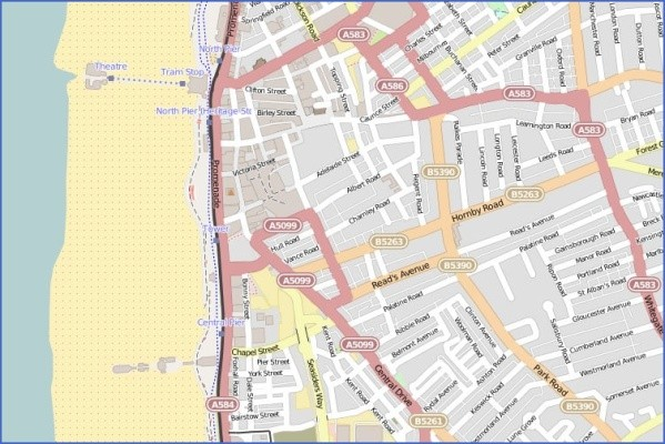 blackpool map 18 Blackpool Map