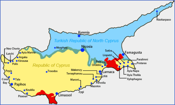 cyprus cities map major cities in cyprus 1 Cyprus Cities Map, Major Cities in Cyprus