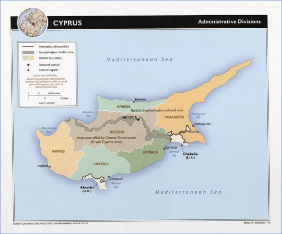 cyprus cities map major cities in cyprus 17 Cyprus Cities Map, Major Cities in Cyprus