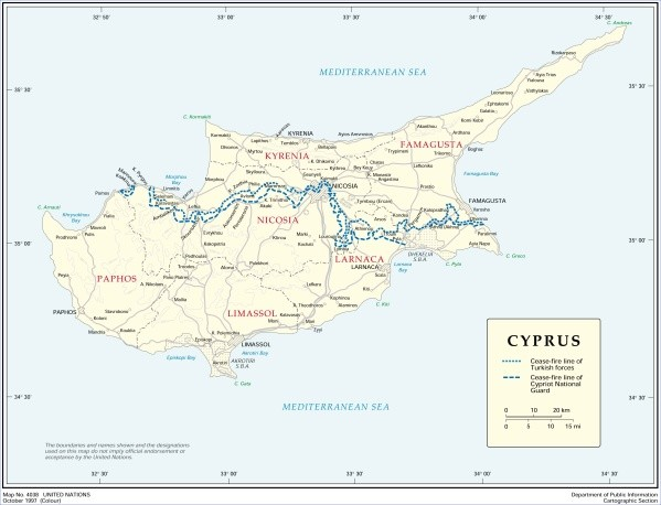 cyprus cities map major cities in cyprus 4 Cyprus Cities Map, Major Cities in Cyprus