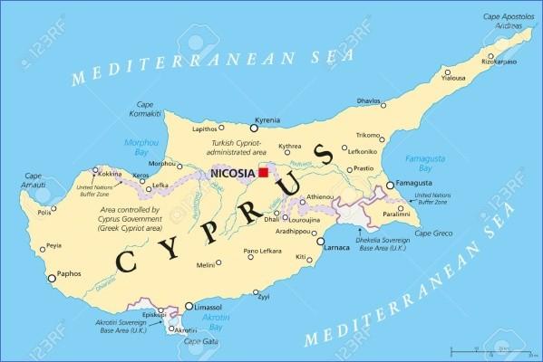 cyprus map english  0 Cyprus Map English