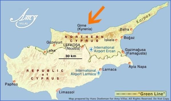 cyprus map english  11 Cyprus Map English