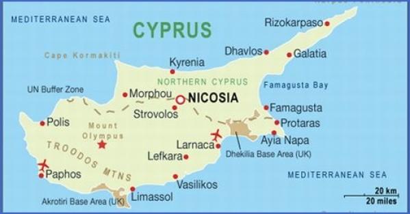 cyprus map english  14 Cyprus Map English