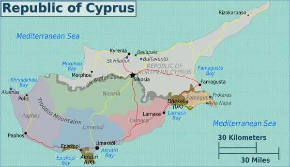cyprus map english  18 Cyprus Map English