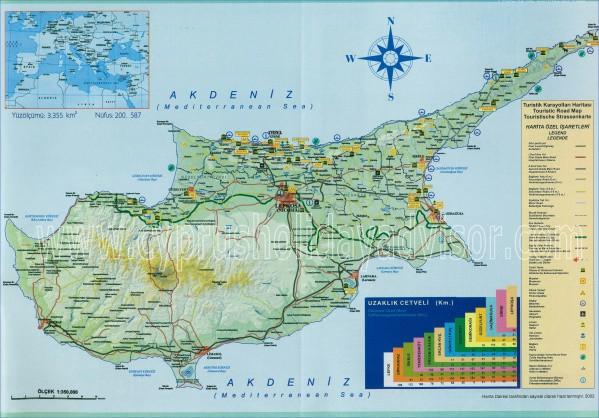 cyprus map english  9 Cyprus Map English