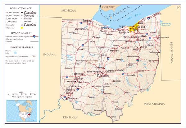 map of ohio 15 Map of Ohio