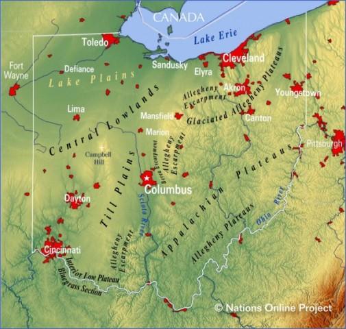 map of ohio 17 Map of Ohio