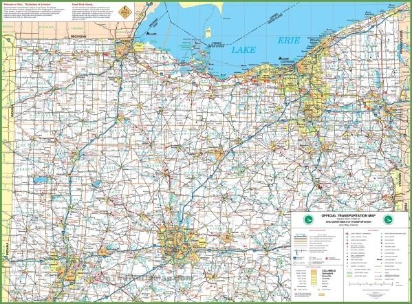 map of ohio 4 Map of Ohio