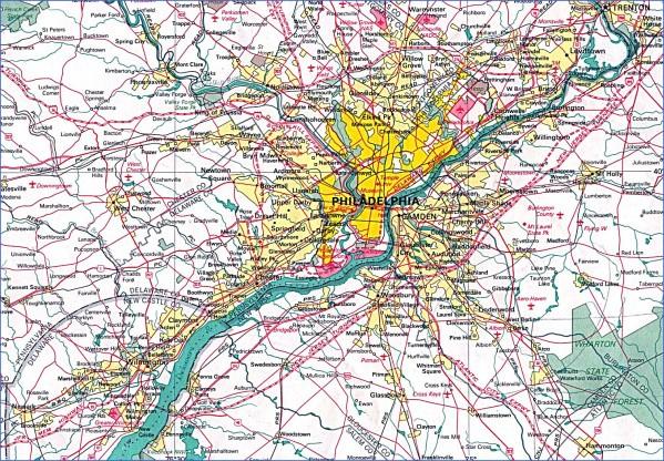 map of philadelphia 0 Map of Philadelphia