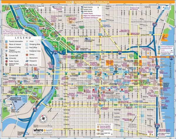 map of philadelphia 16 Map of Philadelphia