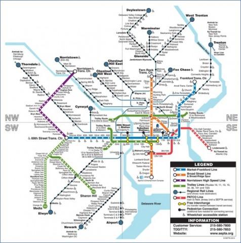 map of philadelphia 17 Map of Philadelphia