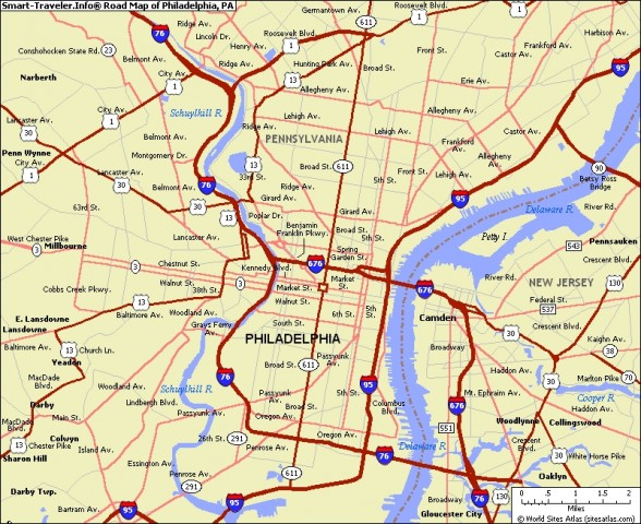 map of philadelphia 6 Map of Philadelphia