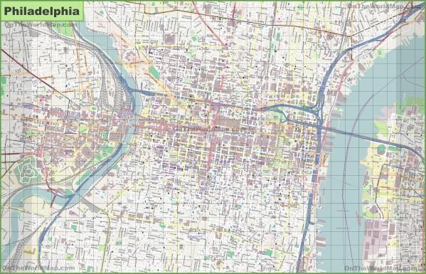 map of philadelphia 7 Map of Philadelphia