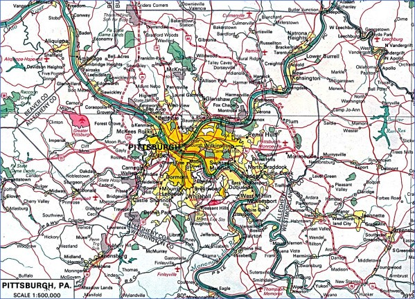 map of pittsburgh 12 Map of Pittsburgh