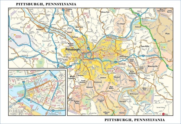 map of pittsburgh 2 Map of Pittsburgh
