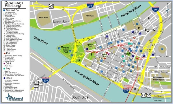 map of pittsburgh 4 Map of Pittsburgh