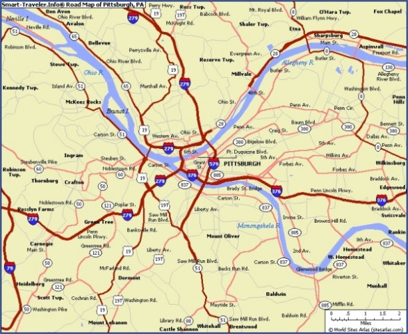 map of pittsburgh 8 Map of Pittsburgh
