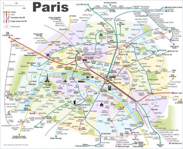 paris city map 15 Paris City Map